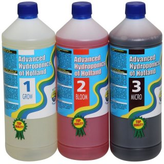 Advanced Hydroponics Set Grow, Bloom, Micro 1l